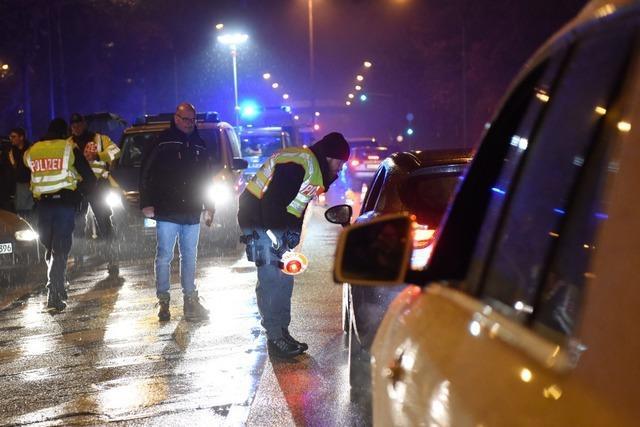 So hat die Polizei Freiburg die ganze Nacht lang nach Straftätern gefahndet