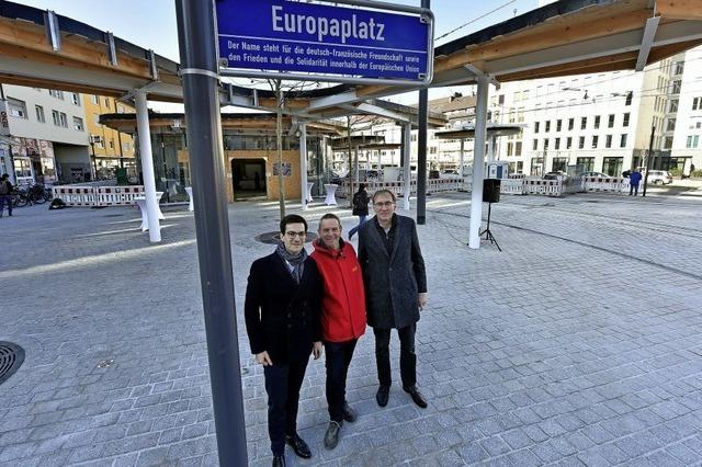 Einst Siegesdenkmal, jetzt Europaplatz