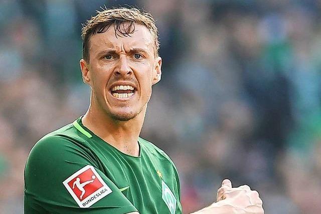 Werder-Kapitän Max Kruse wirkt nicht richtig austrainiert