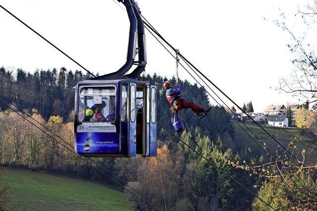 Übung an der Schauinslandbahn