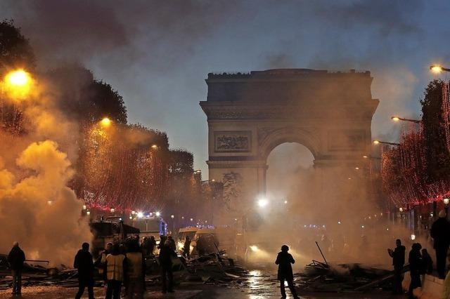Gewalt bei Protesten in Paris