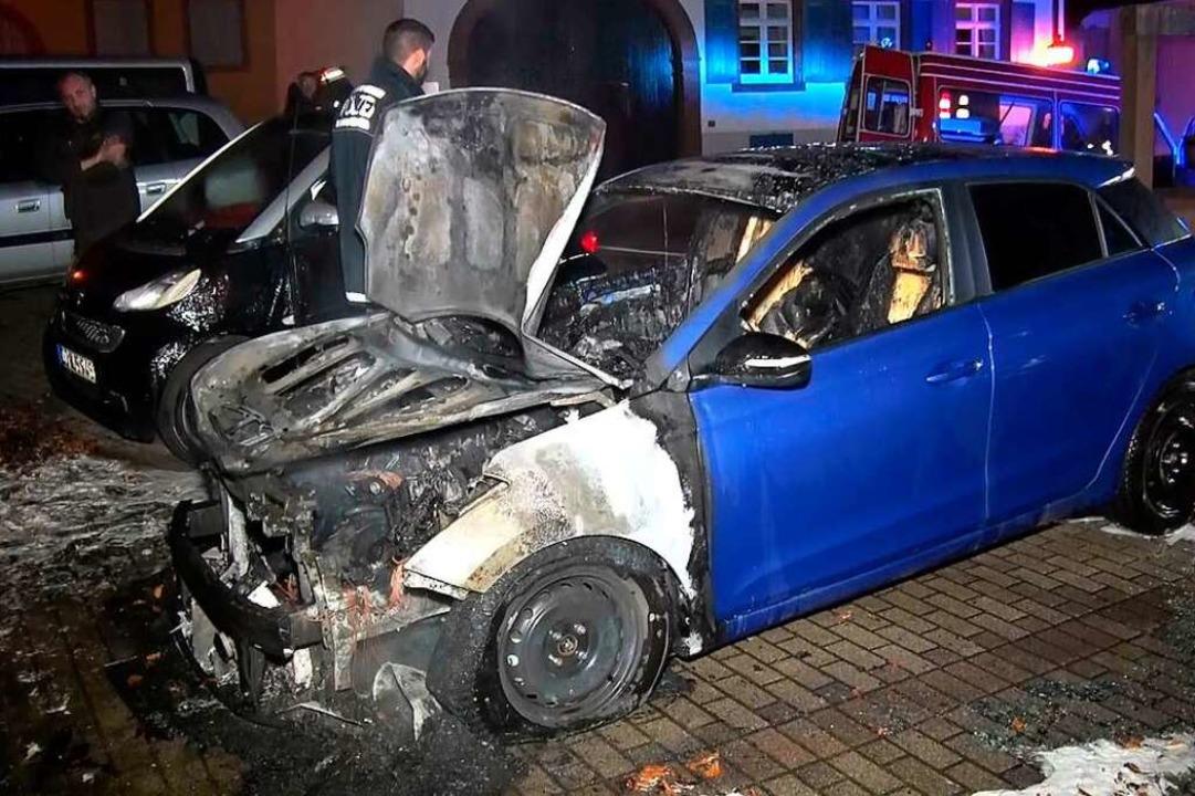 Totalschaden nach Brandstiftung in Mahlberg  | Foto: Wolfgang Künstle