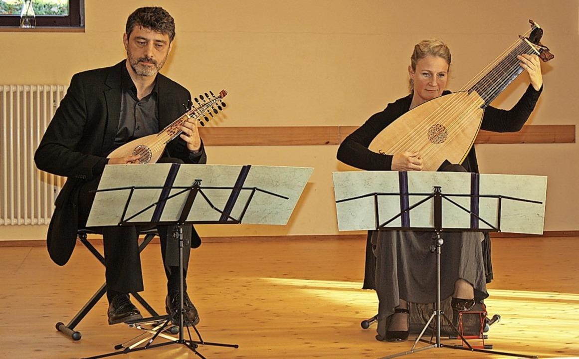 Das Duo Ahlert & Schwab konzertierte in Waldkirch.   | Foto: Hildegard Karig