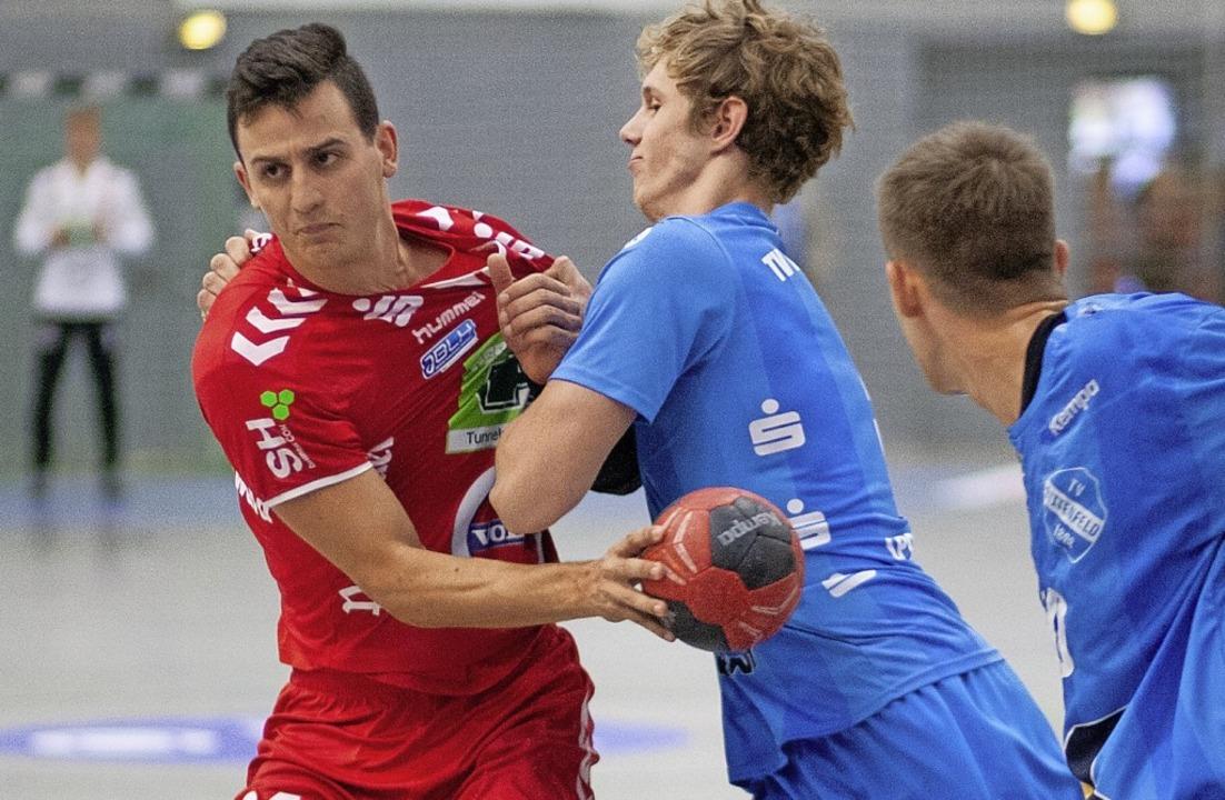 <BZ-FotoAnlauf>Handball:</BZ-FotoAnlau...warf zehn Treffer im Bundesligaspiel.   | Foto:  Alexandra Buss