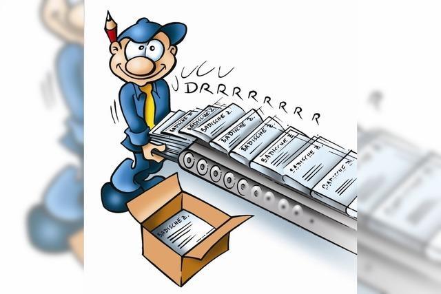In einer Stunde werden 120 000 Zeitungen gedruckt