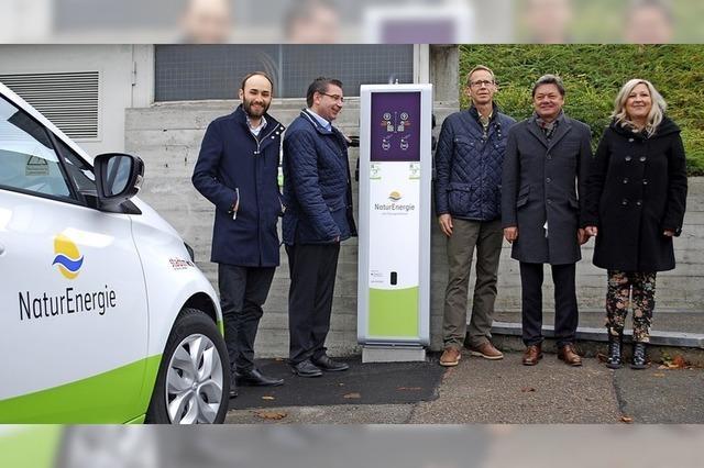 Neue Ladesäule für Elektroantrieb