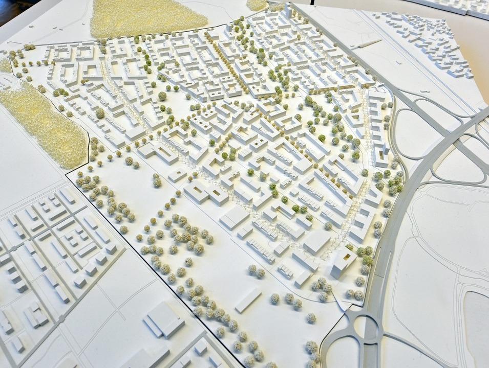 Der Entwurf für den neuen Stadtteil Dietenbach.  | Foto: Michael Bamberger