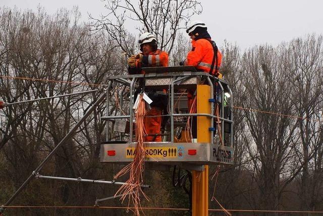 Elektrischer Ausbau der Kaiserstuhlbahn läuft nach Plan