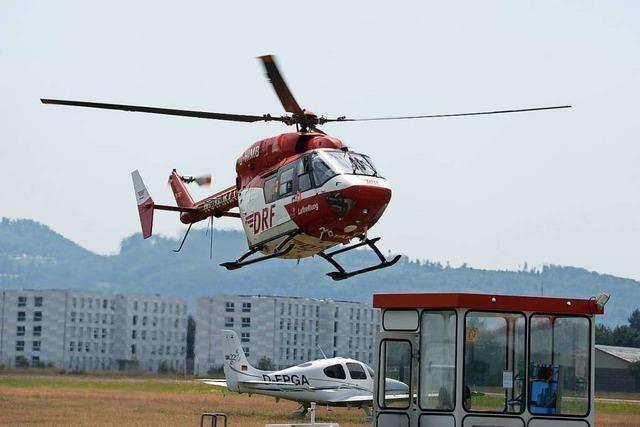Vorläufiger Landeplatz bei Schopfheim für Rettungshubschrauber gefunden