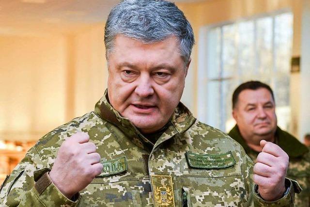 Der Präsident der Ukraine bittet Deutschland um Hilfe