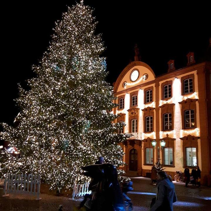 Die Stadt Offenburg zeigt dagegen: So geht Weihnachtsbaum.  | Foto: Hubert Röderer