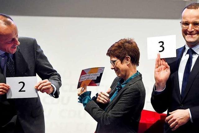 Umfrage: Kramp-Karrenbauer im Rennen um CDU-Vorsitz weiter vorn