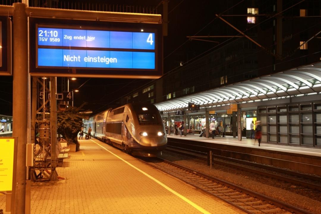 Wer um 9.35 in Paris sein will, muss um 6.37 Uhr in Freiburg in den Zug steigen.  | Foto: nvbw