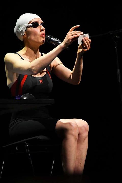 Christine Prayon ist auf ihre ganz eigene Art schräg.  | Foto: Barbara Ruda
