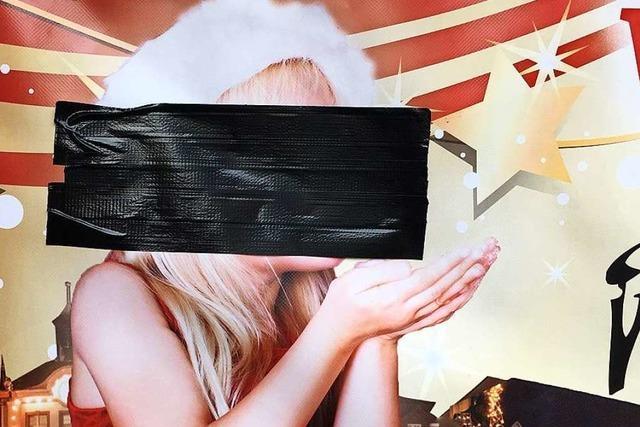 Stadt Emmendingen schmeißt Mädchen mit Mütze von Plakat