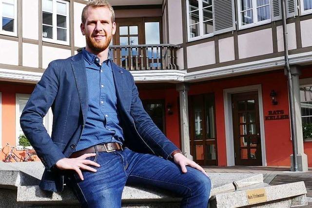 Ein Jahr Bürgermeister von Ihringen: Benedikt Eckerle zieht Bilanz