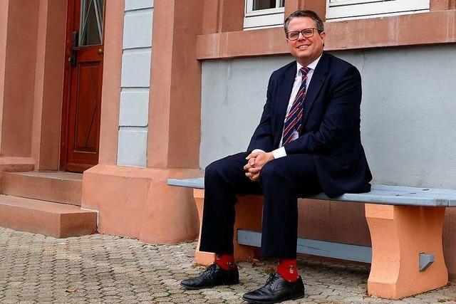 Grenzach-Wyhlens Bürgermeister Tobias Benz zieht Halbzeitbilanz