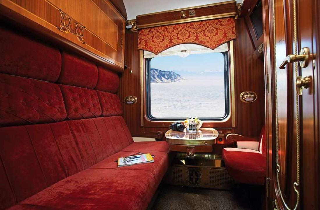 Komfortabel: Das Zarengold-Abteil.  | Foto: dpa-tmn