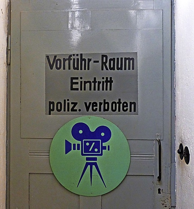 Die Tür zum Vorführraum  | Foto: Julian Burmeister