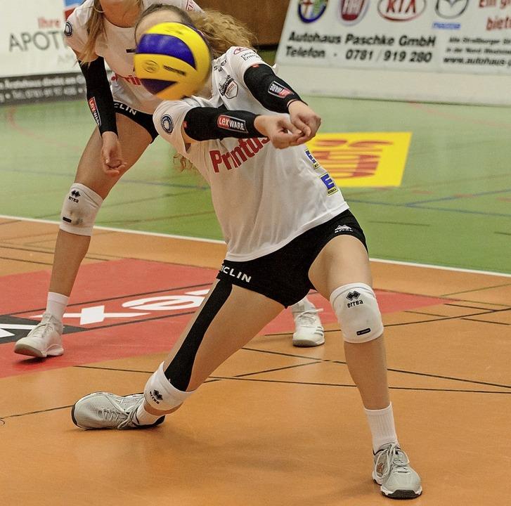 Offenburgs Volleyballerinnen  spielten...n mag. Aber nicht so gut wie gewohnt.     Foto: S. Köhli