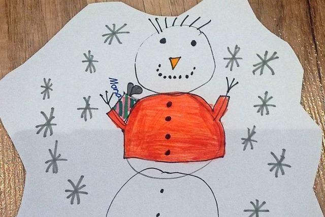 Der Schneemann in Not