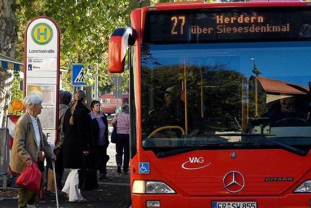 Neue Busroute in die Zähringer Hanglage ist laut VAG chancenlos