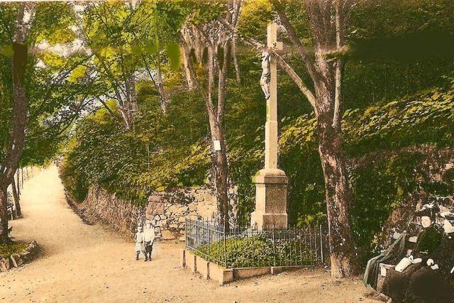 Um den Standort dieses Schlossberg-Kreuzes rankt sich eine Legende