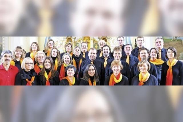 Mit dem Chor Stimmen-Los aus Bernau in Schluchsee