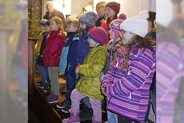Schüler verschönern den Advent