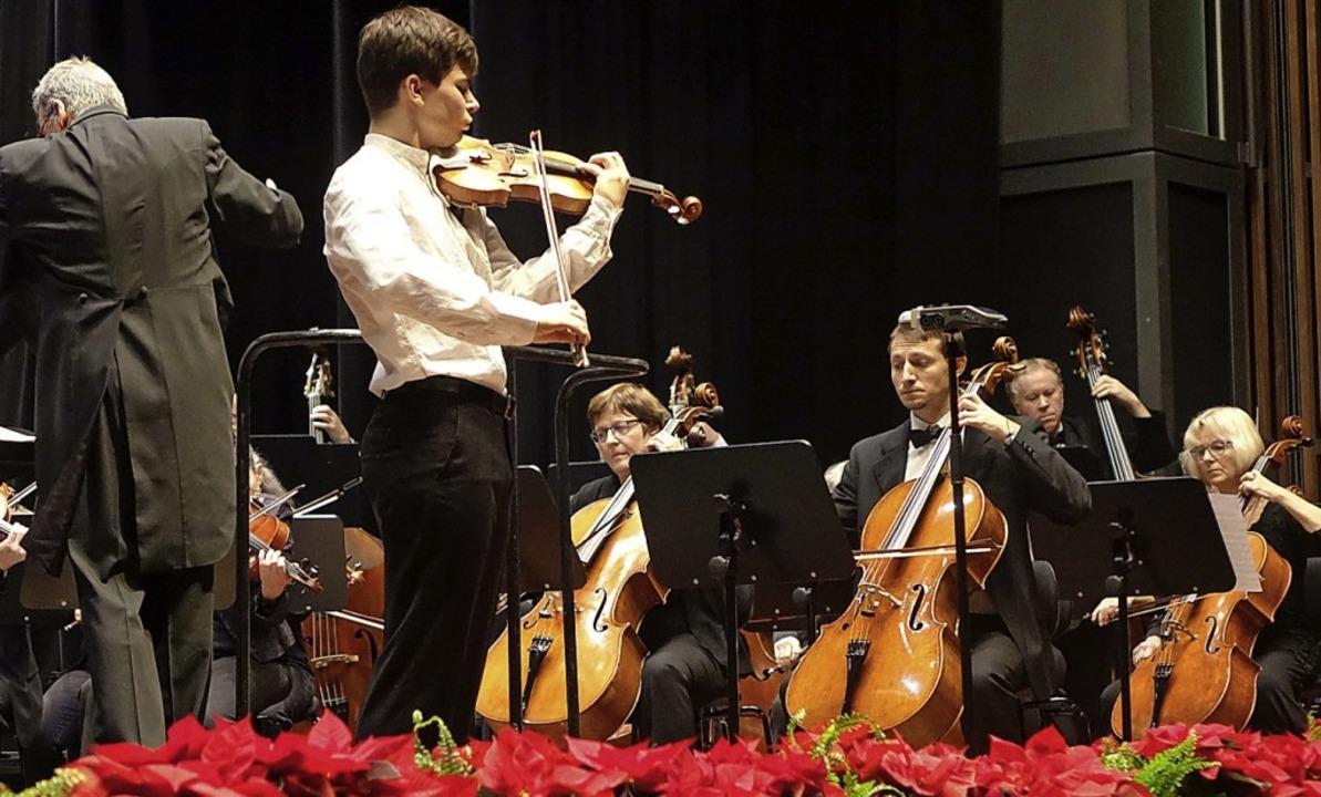 Der junge Schopfheimer Geiger Gregor H...s Oberrheinischen Sinfonieorchesters.   | Foto: Roswitha  Frey