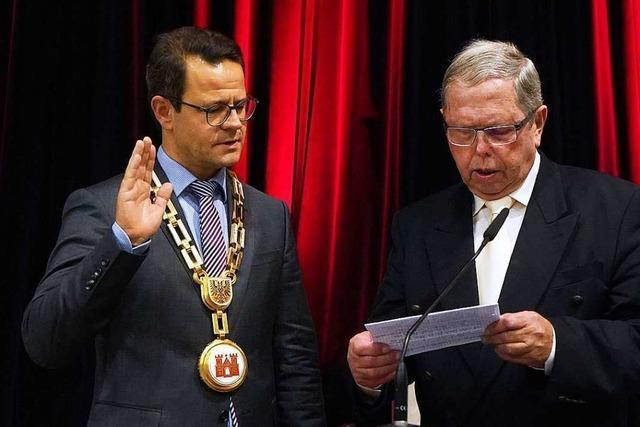 Marco Steffens ist in Offenburg als OB vereidigt worden