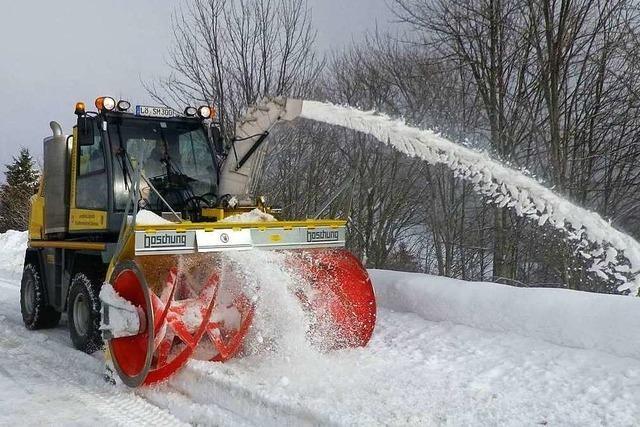 Die Straßenmeistereien im Landkreis Lörrach sind auf den Winter vorbereitet