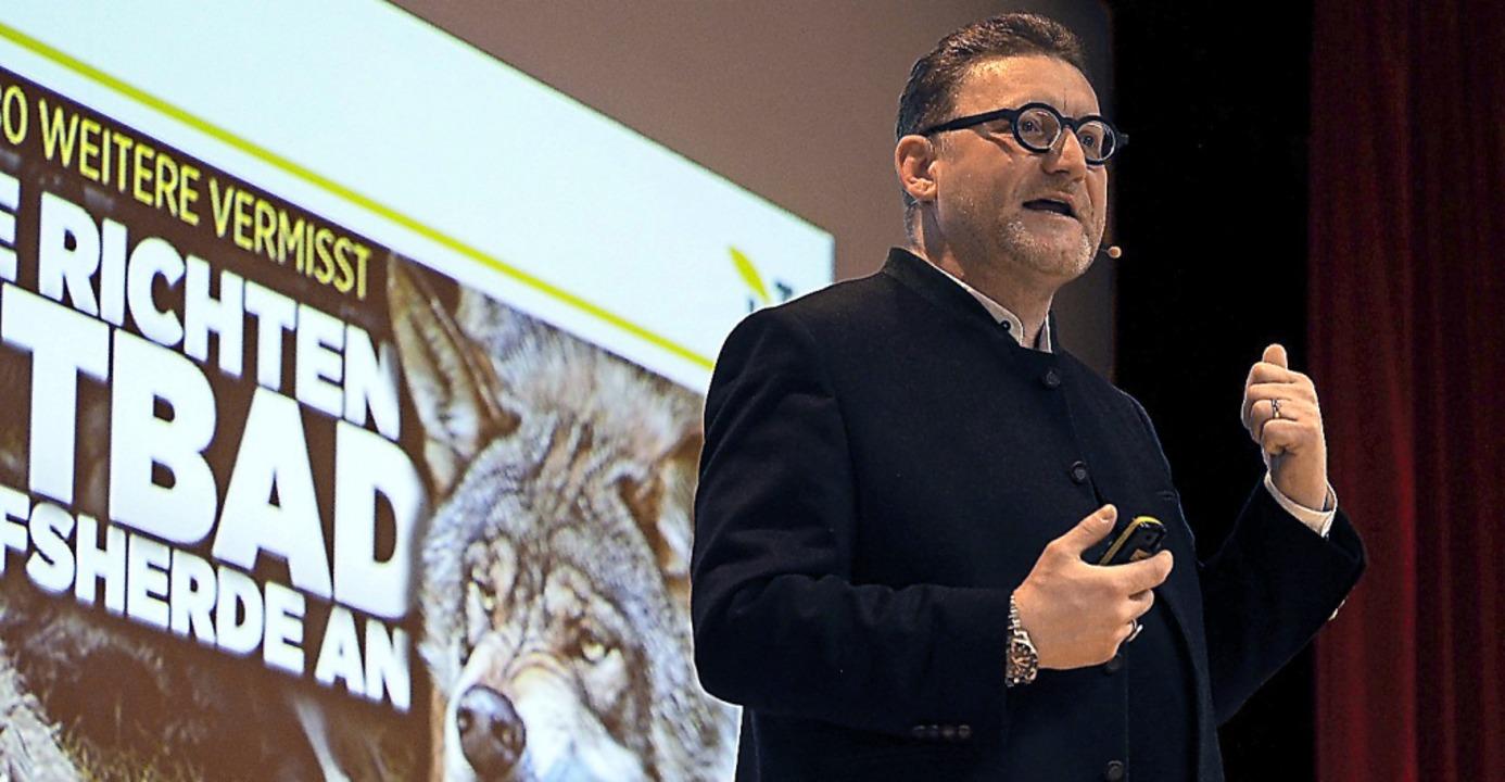 Gregor Beyer, Geschäftsführer des Foru...ungen mit Wölfen in seinem Bundesland.  | Foto: Susanne Gilg