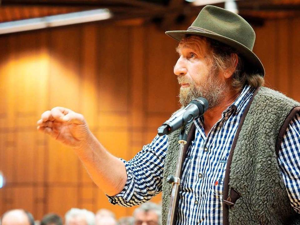 Reinhard Bischler arbeitet als Schäfer im Kinzigtal.  | Foto: Susanne Gilg