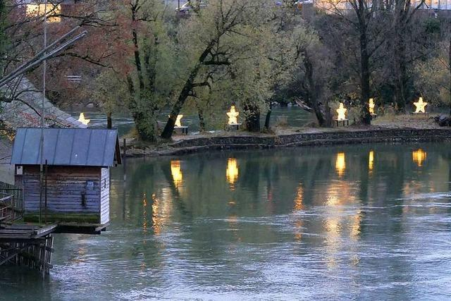 Das Rheinfelder Inseli leuchtet im Advent