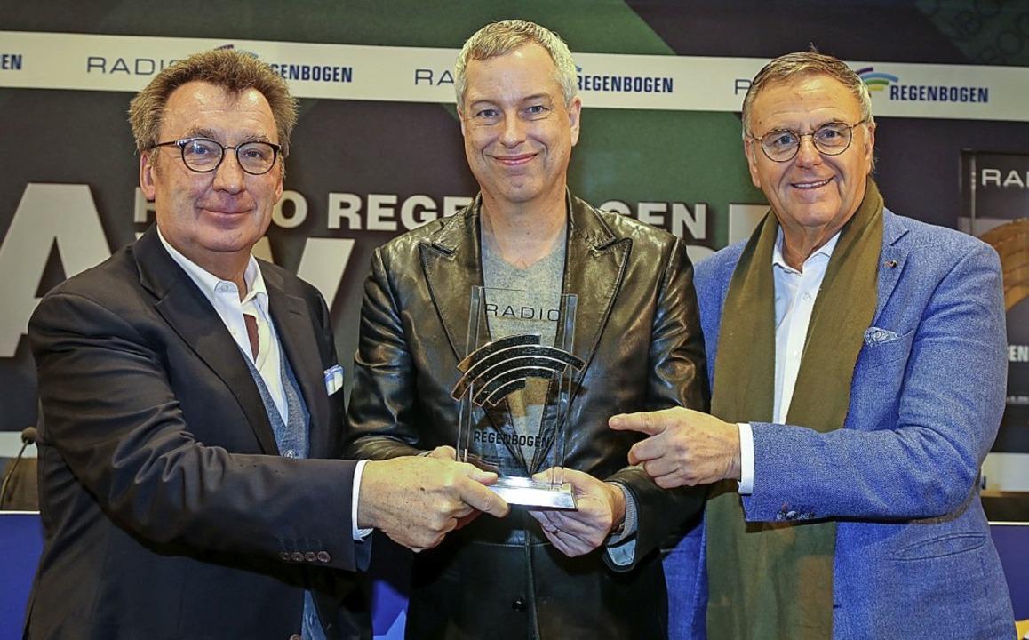 Freuen sich auf die Preisverleihung am...Park-Inhaber Roland Mack (von links).   | Foto: Sandra Decoux-Kone
