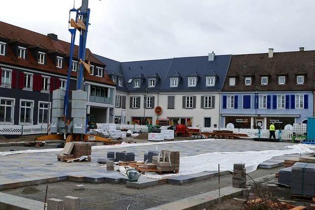 Die Innenstadtsanierung in Breisach kommt gut voran