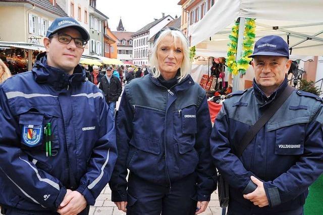 Unterwegs mit den Ordnungshütern auf dem Kalten Markt in Schopfheim