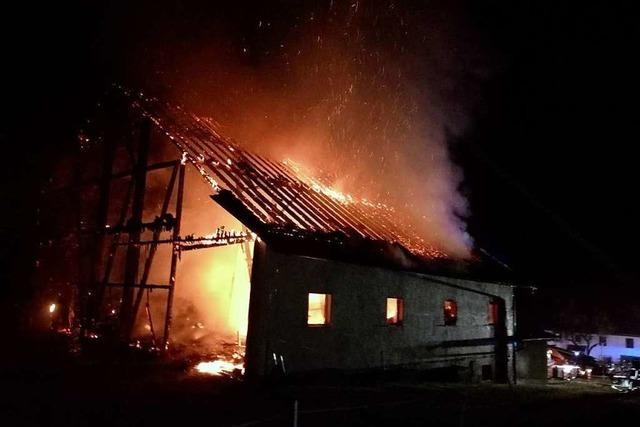 Drei Brände in einer Nacht in Bonndorf – Drei Pferde gerettet