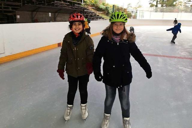 Obwohl uns am Ende die Füße weh taten, war es super auf dem Eis