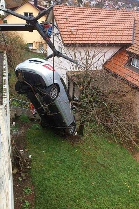 Die Polizei in Lörrach meldet einen spektakulären Unfall    Foto: Annemarie Rösch