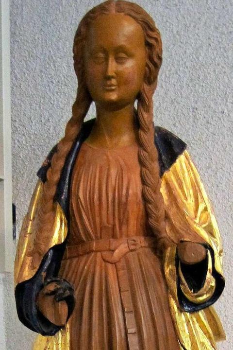 Diese Kopie der Barbara aus der einsti...iginal im Freiburger Augustinermuseum.  | Foto: Bernhard Hoch