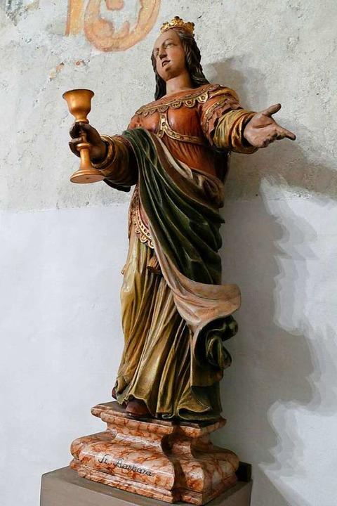 Die heilige Barbara in der Kapelle der...arbara in Öhlinsweiler (Pfaffenweiler)  | Foto: Andrea Drescher