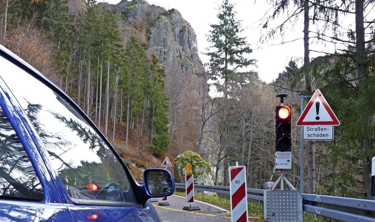 Derzeit ist die L123 von Münstertal na...9 ist die Strecke dann voll gesperrt.     Foto: Sattelberger