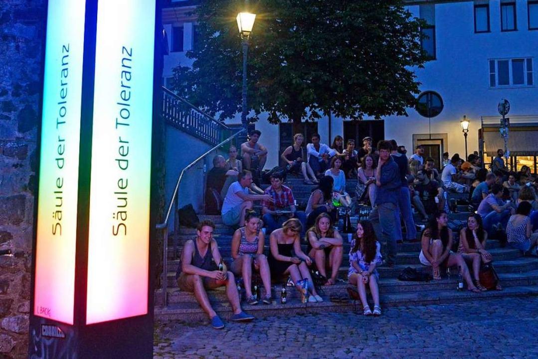 Die Säule der Toleranz: zu laut ist es auf dem Platz trotzdem  (Archivbild).  | Foto: Michael Bamberger