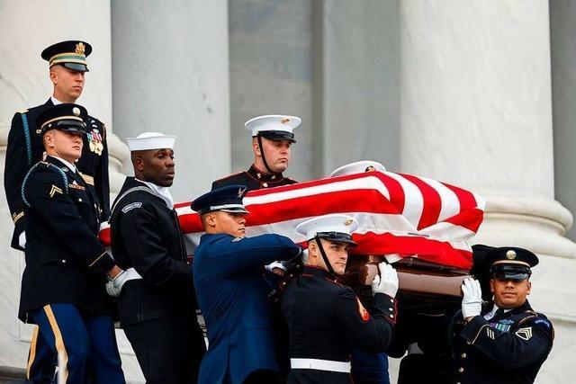 Amerika nimmt Abschied von Ex-Präsident George H. W. Bush