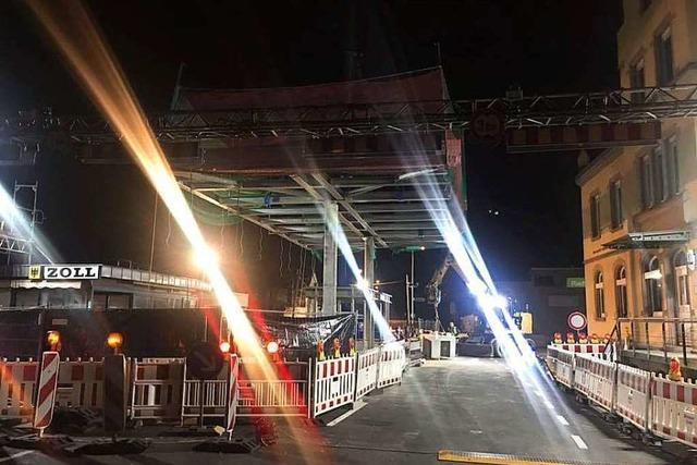 Grenzach-Wyhlen: Zoll bleibt halbseitig gesperrt