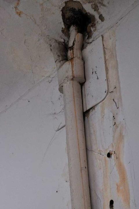Ein Problem in der Garage ist eindringende Feuchtigkeit.  | Foto: Nicolai Kapitz