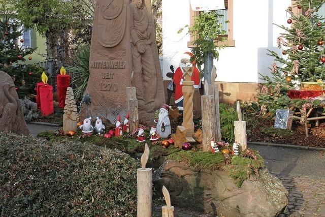 Adventsbrunnen in Wittenweier