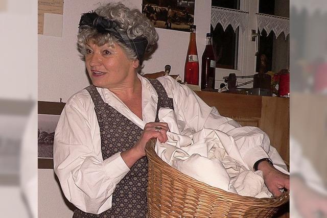 Die Waschfrau erzählt von anno dazumal